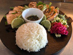 Menu tataki de saumon du Wasabi Café Bordeaux Bastide