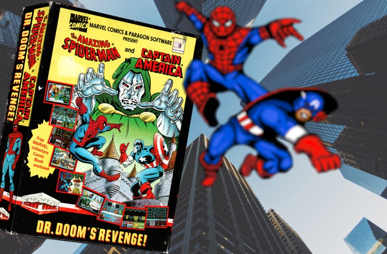 """Spider-Man and Captain America in Doctor Doom's Revenge"" from Paragon Software"