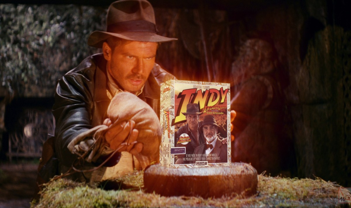 """Indiana Jones and the Last Crusade - The Graphic Adventure"" from Lucasfilm Games"