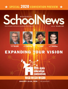 Image of the November 2019 Wisconsin School News Cover