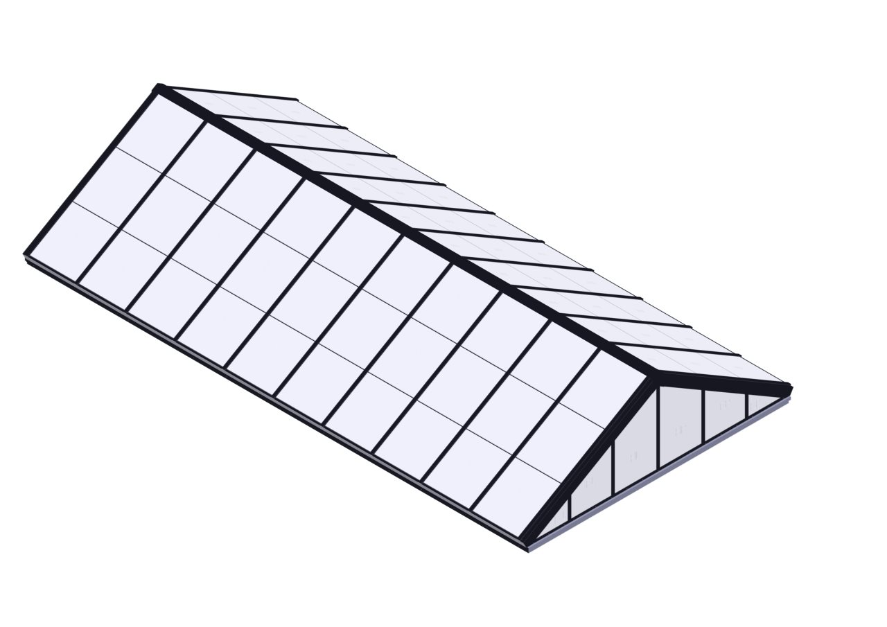Double Pitch Skylights With Multiwall Polycarbonate Panels