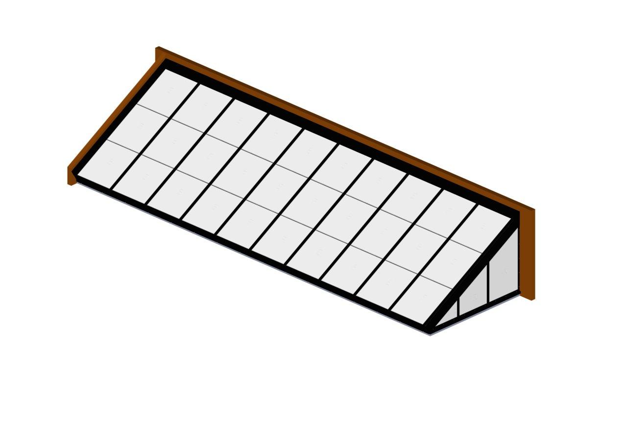 Translucent Lean To Polycarbonate Metal Framed Skylight
