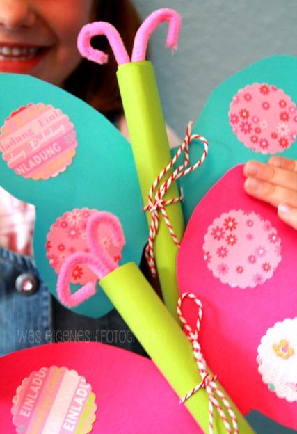 Diy Schmetterling Geburtstagseinladung, Kreative Einladungen