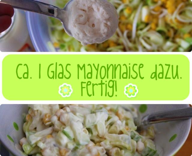 Porree Apfel Mais Salat   Rezept Party Speisen   waseigenes.com