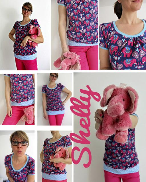 Shelly Shirt   pinke Elefanten   Jolijou   Hamburger Liebe   selbernähen   was eigenes Blog