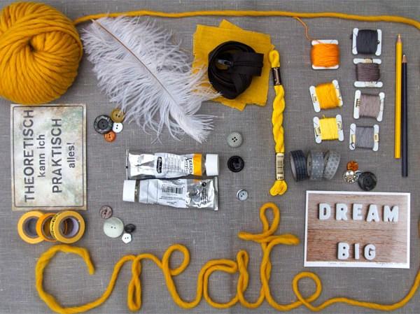 Moodboard | Blogging your way | yellow & grey | create | waseigenes.com