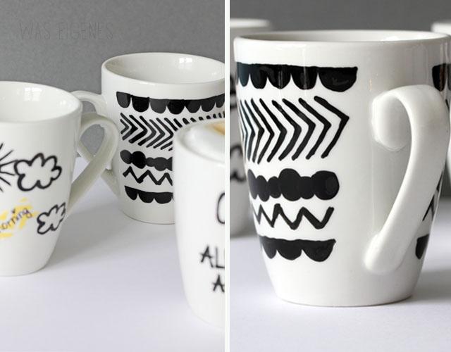 Kaffeetassen | bemalen & beschriften | Selbermachen | was eigenes DIY Blog