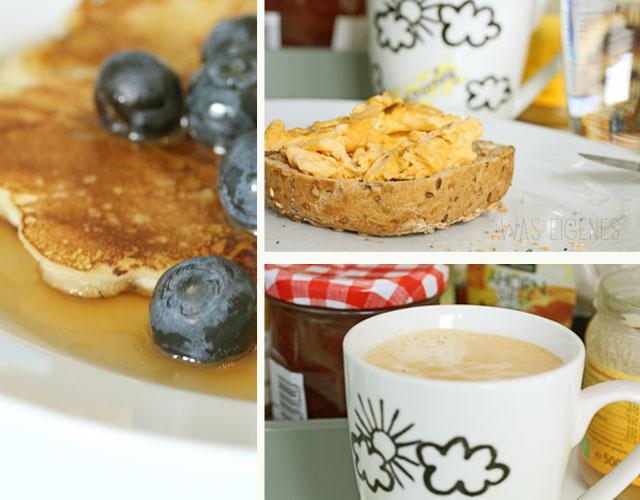 pancakes und rührei am sonntag was eigenes blaubeeren
