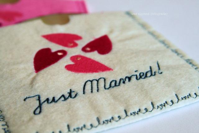 DIY CD Hülle aus Filz nähen und besticken | just married | DIY Geschenkidee | waseigenes.com DIY Blog