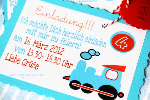 Kindegeburtstag Einladung | Jungen Geburtstag | Thomas & seine Freunde | Lokomotive | DIY waseigenes.com