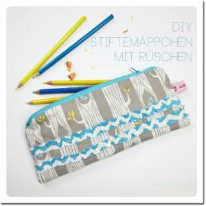 DIY Stiftemäppchen mit Rüschen Anleitung waseigenes