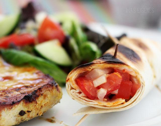 Gegrillte Guacamolo Tortillas   waseigenes.com