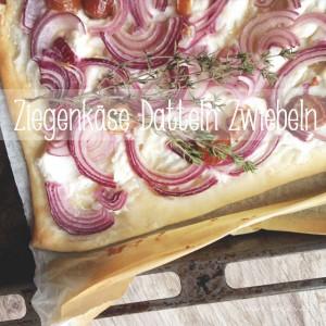 Flammkuchen Ziegenkäse Datteln / Rezept / was eigenes