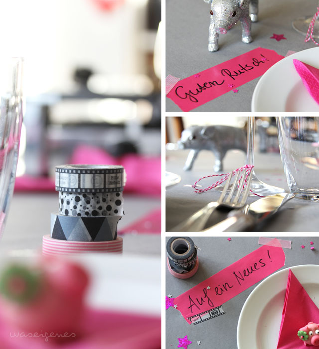 Silvesterdekoration | grau & pink | home decoration | DIY | waseigenes.com