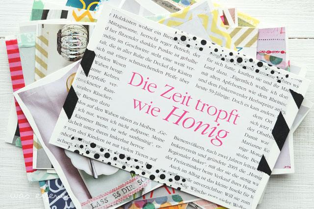 diy postkarten aus alten living at home zeitschriften basteln. Black Bedroom Furniture Sets. Home Design Ideas