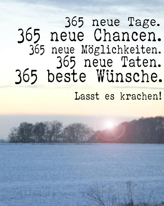 365 neue Tage, gute Vorsätze, gute Wünsche | waseigenes.com Blog