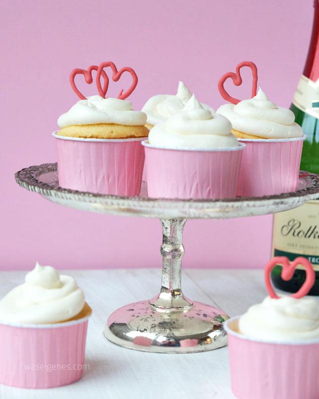 Rezept Holunder Sekt Cupcakes | waseigenes.com