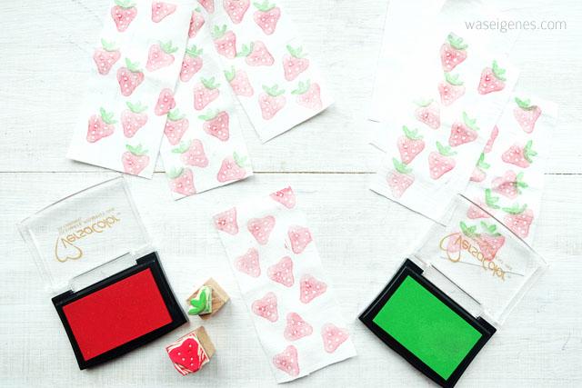 DIY | Erdbeer Stempel selber machen | Stoffdruck | waseigenes.com