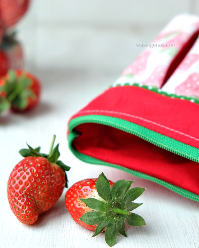 Soehnlein Brillant |#erdbeeremalanders | Faltentaeschen | Stoffdruck | waseigenes.com 3