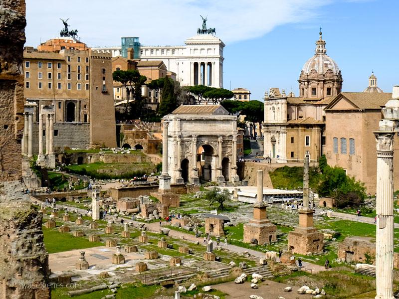 Tag 2 unserer Rom Reise: Das Kolosseum, das Forum Romanun, die Spanische Treppe und der Trevi-Brunnen.