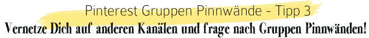 Pinterest Gruppen Pinnwand: Vernetze Dich mit anderen | waseigenes.com