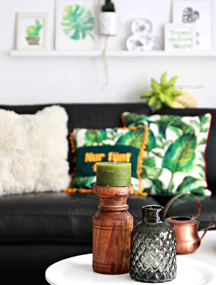 DIY Kissenbezüge nähen | urban jungle | Pflanzenprint | waseigenes.com