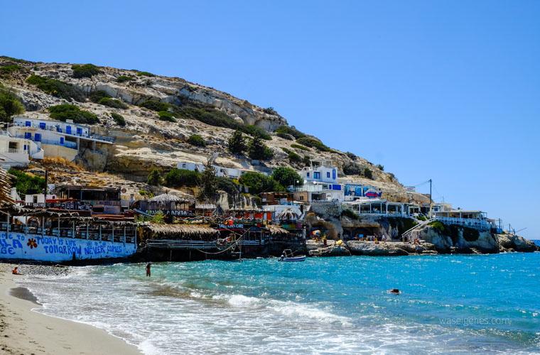 Kreta: Hippie Dorf Matala | Strand | waseigenes.com