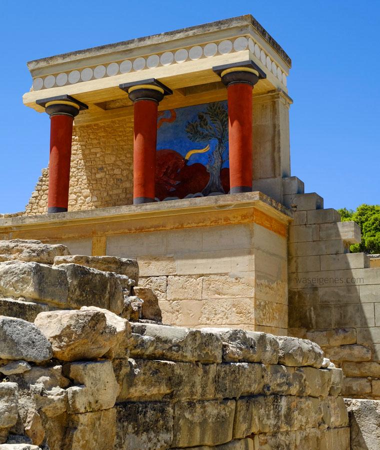 Der Palast von Knossos.