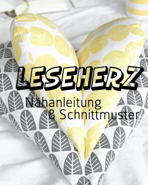 Leseherz Kissen | Nähanleitung und Schnittmuster | waseigenes.com