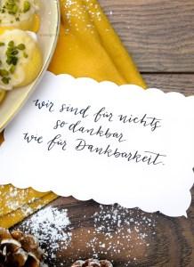 Wir sind für nichts so dankbar wie für Dankbarkeit | Adventskalender der guten Gedanken & Wünsche | waseigenes.com