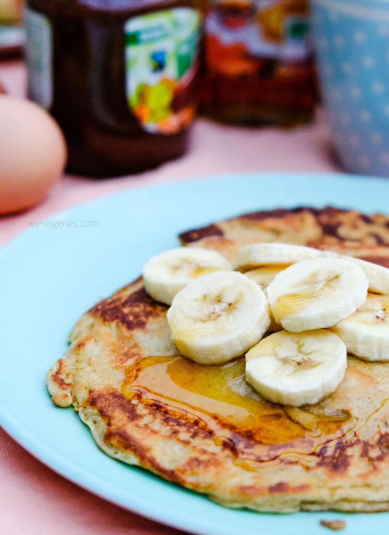 Rezept: Bananenpfannkuchen mit Ahornsirup   waseigenes.com