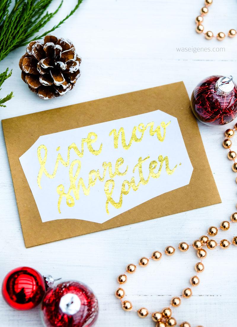 DIY: Grußkarten oder Weihnachtskarten mit Deco Foil (Thermoweb Dekorfolie) erstellen