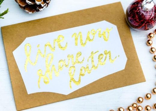 DIY: Grußkarten oder Weihnachtskarten mit Deco Foil (Thermoweb Dekorfolie) erstellen | DIY Anleitung | live now share later | waseigenes.com