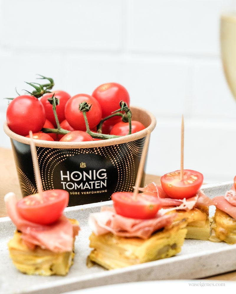 Honigtomaten von Looye - leckere Snack-Tomaten | Rezept: Tortilla Würfel mit Serrano und Honigtomaten | waseigenes.com