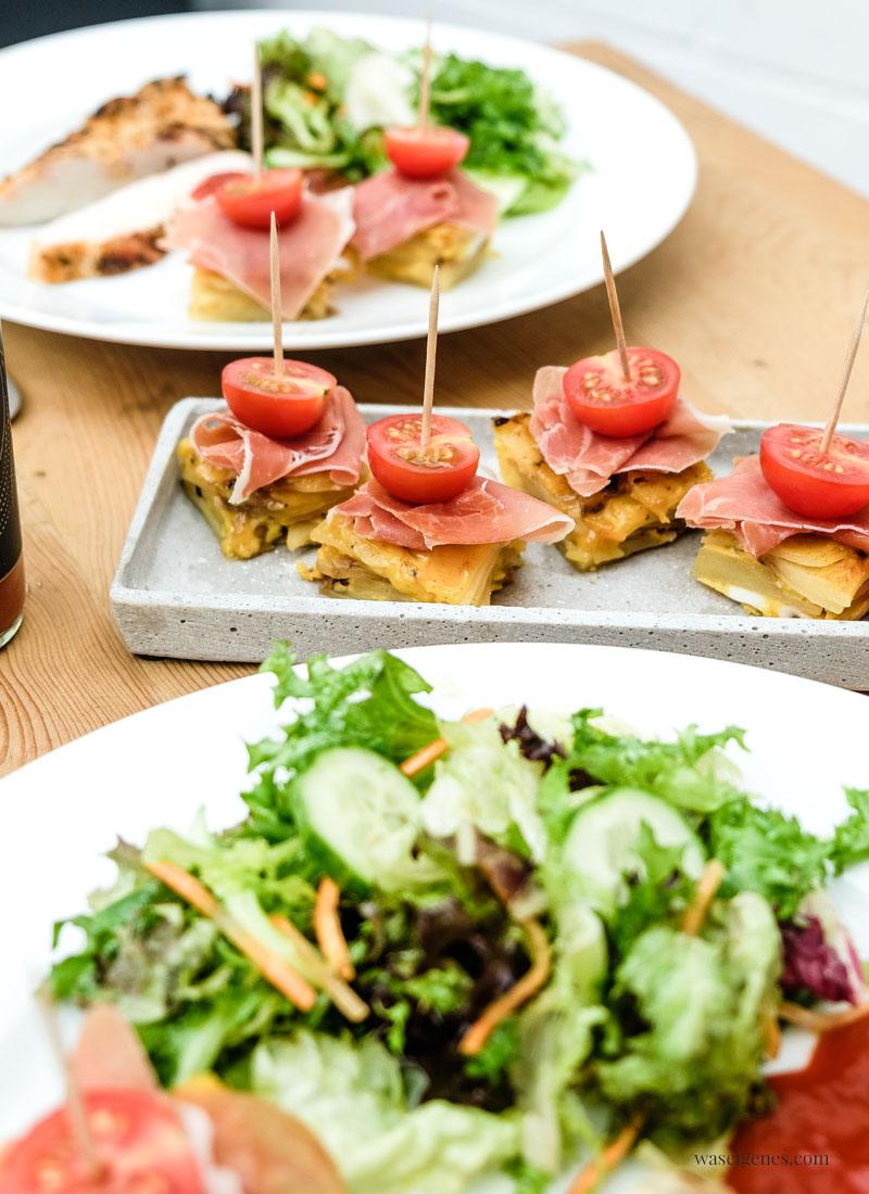 Tortilla Würfel mit Honigtomaten und Serrano Schinken - köstliches Fingerfood | waseigenes.com