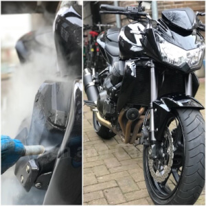 motorfiets laten reinigen