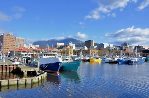 Fishing Boat At Dock in Hobart Harbour
