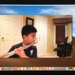 online flute lesson