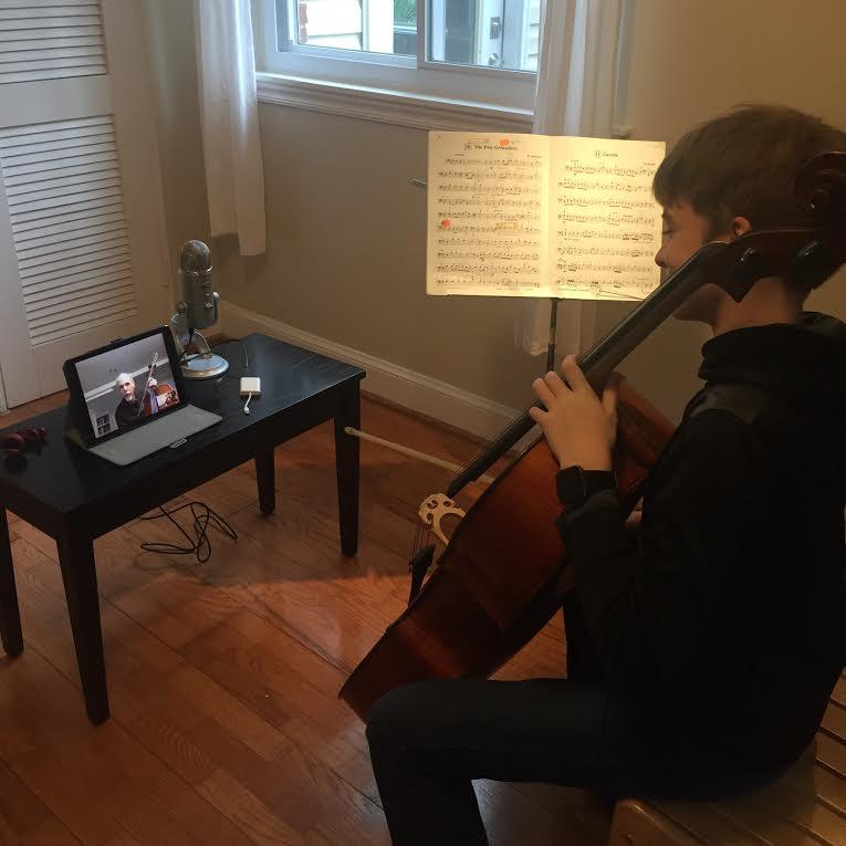 online cello lesson