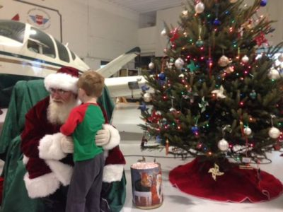Santa at the West Bend Airport