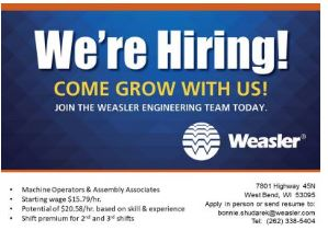 Weasler Engineering jobs