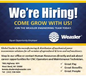 Weasler hiring