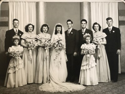 Franklin and Margaret Bales wedding picture from 1948.