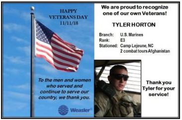 Veteran Tyler Hornton