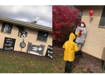 Halloween decorations in Kewaskum