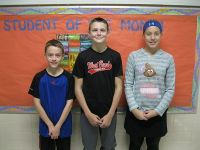 Students of the Month of September for Holy Angels