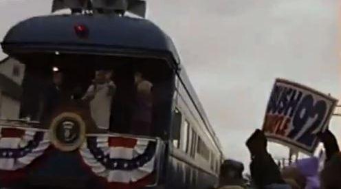 Bush Sr. in ALlenton by train