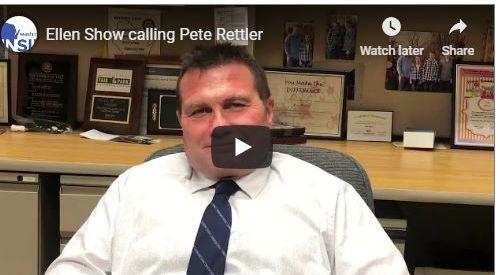 Pete Rettler, MPTC Dean, following skype with Ellen Show