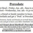Join us at Percolate