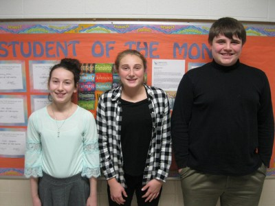 Holy Angels students of the month for December 2018